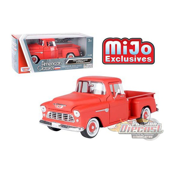 Chevrolet 5100 Stepside Pickup Red - Motormax 1/24 - 73236 RD - Passion Diecast