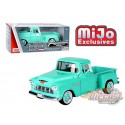 1955 Chevrolet 5100 Stepside Pickup Turquoise - Motormax 1/24 - 73236 TQ
