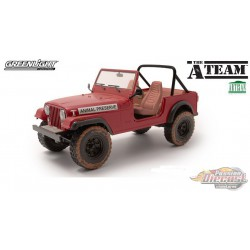 Jeep CJ-7 - Animal Preserve - The A-Team -  Greenlight 1/18 - Artisan Collection - 19091 -  Passion Diecast