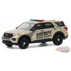 2020 Ford Police Interceptor - Boone County Sheriff's - Anniversary Collection 11 - 1,64 greenlight - 28040 E - Passion Diecast