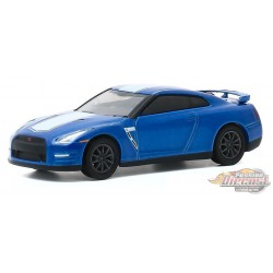 GT-R (R35) - Bayside Blue with White Stripe - Anniversary Collection 11 - 1,64 greenlight - 28040 D  - Passion Diecast