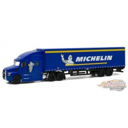 2019 Mack Anthem Tractor with Dry Van Trailer  Michelin Tires - Hobby Exclusive 1-64 Greenlight 30085 - Passion Diecast
