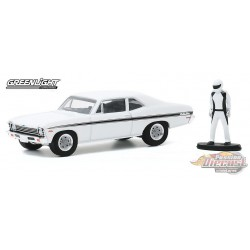 1974 Chevrolet Rally Nova with Race Car Driver - The Hobby Shop Series 9 -  1/64 Greenligh t-  97090 C  - Passion Diecast