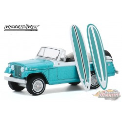 1968 Kaiser Jeep Jeepster with Surfboards - The Hobby Shop Series 9 -  1/64 Greenligh t-  97090 B - Passion Diecast