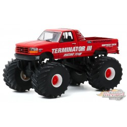 Terminator III - 1993 Ford F-250 Monster Truck - Kings of Crunch Series 7 -  1-64 greenlight 49070 E - Passion Diecast