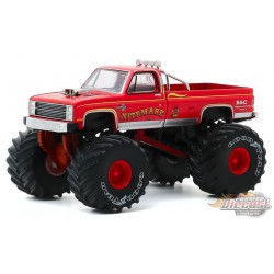 Nitemare II - 1986 Chevy Silverado Monster Truck - Kings of Crunch Series 7 -  1-64 greenlight 49070 D  - Passion Diecast