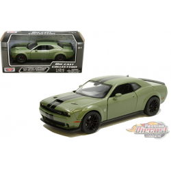 2018 Dodge Challenger SRT Hellcat Widebody Green - Motormax 1/24 - 79350 GR - Passion Diecast