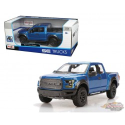 2017 Ford Raptor Pickup Blue - Maisto 1/24 - 31266 BL - Passion Diecast