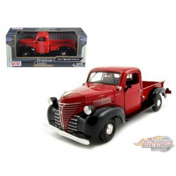 1941 Plymouth Pickup Red  - Motormax 1/24 73278 RD - Passion Diecast