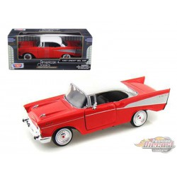 Chevrolet  Bel Air 1957 Rouge  - Motormax 1/24 73228 RD  - Passion Diecast