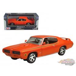 1969 Pontiac GTO Judge Orange  - Motormax 1/24 - 73242  - Passion Diecast