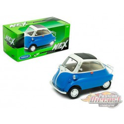 BMW Isetta Blue & Cream  - Welly 1/18 - 24096 BL  - Passion Diecast