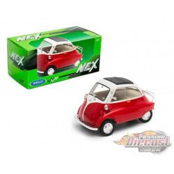 BMW Isetta Red & Cream  - Welly 1/24 - 24096 RD  - Passion Diecast