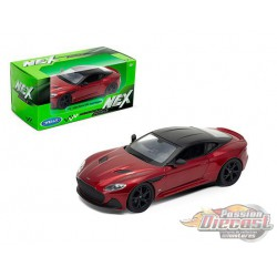 Aston Martin DBS Superleggera Red  - Welly 1/24 - 24095 RD- Passion Diecast