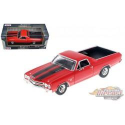 1970 Chevrolet El Camino SS 396  Rouge  - Motormax 1/24 - 79347 RD - Passion Diecast