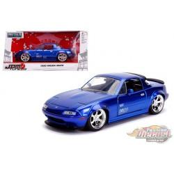 1990 Mazda Miata Hard Top, Glossy Blue - JDM Tuners - Jada 1/24 - 30942 - Passion Diecast