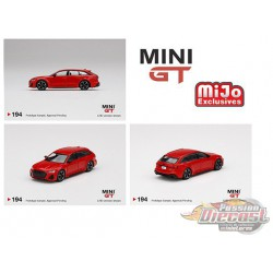 Audi RS6 Avant Red -  MINI GT 1:64 - MGT00194 - Passion Diecast