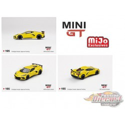 2020 Chevrolet Corvette C8 Stingray Accelerate Yellow -  MINI GT 1:64 - Mijo Exclusive - MGT00195 - Passion Diecast