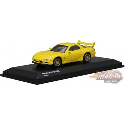 Mazda RX-7 FDS3 Yellow - Kyosho 1:64 - KS07033R7Y - Passion Diecast