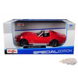 1970 Chevrolet Corvette Red - Maisto 1/24 - 31202 RD  - Passion Diecast