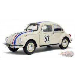 Volkswagen Beetle Beetle no 53 Herbie cream   Solido  1/18 - S1800505 - Passion Diecast