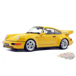 1990 Porsche 964 3.8 RS Yellow  -  Solido  1/18 - S1803401  -  Passion Diecast