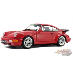 1990 Porsche 964 3.8 RS Indian Red -  Solido  1/18 - S1803402 - Passion Diecast