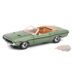 1970 Dodge Challenger R/T Convertible - F8 Green Metallic with Tan Interior - Greenlight 1/18 - 13586- Passion Diecast