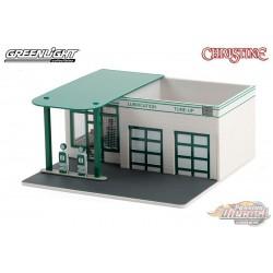 Mobico  -  Christine  - Vintage Gas Station - Mechanic's Corner Series 7- Greenlight 1/64 -  57072 - Passion diecast
