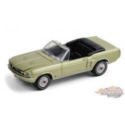 1967 Ford Mustang Convertible High Country Special - Aspen Gold - greenlight 1/64  Hobby Exclusive - 30214  - Passion Diecast