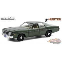 1977 Dodge Monaco  Hunter  TV Series -  Greenlight 1/24 , 84123 -  Passion Diecast