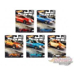 Hot Wheels 1:64 Car Culture 2019 Cruise Boulevard ''M'' Case Crus'ln -  Assortment -  Set Of 5 Cars - FPY86-956M
