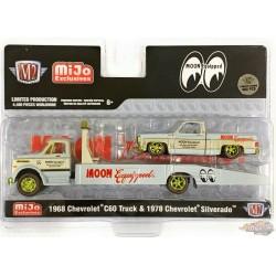 AUTO HAULERS  1968 Chevy C60 & 1978 Chevy Silverado Mooneyes - CHASE CAR M2 1/64  39200 MJS03GR