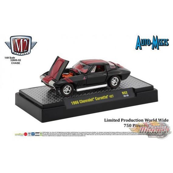 Auto-Meets  Release 52 1966 Chevy Corvette 427  - CHASE CAR M2 Machines 1:64 - 32600-R52GR