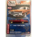 1966 Chevy Impala SS Hard Top - Red /gold trim - Lowriders - Auto World CHASE CAR ULTRA RED 1/64 MiJo Exclusives - CP7659GR