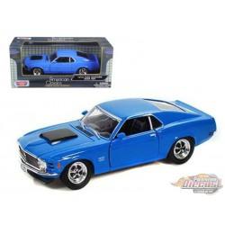 1970 Ford Mustang  Boss 429 Grabber Bleu - Motormax 1/24 - 733003