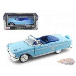 Chevrolet   impala 1958 Convertible Blue - MOTORMAX 1/24 73267 BL - Passion Diecast