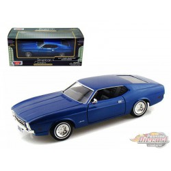 1971 FORD MUSTANG SPORTSROOF  BLEU - MOTORMAX 1/24 - 73327 BL  - Passion Diecast