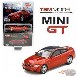 BMW M4 (F82) Sakhir Orange  -  MINI GT 1:64 - Mijo Exclusive - MGT00121 - Passion Diecast