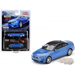 BMW M4 (F82) Yas Marina Blue  -  MINI GT 1:64 - Mijo Exclusive - MGT00122 -  Passion Diecast