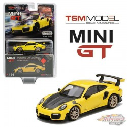 Porsche 911 GT2 RS Racing Yellow  -  MINI GT 1:64 - Mijo Exclusive - MGT00136 -  Passion Diecast