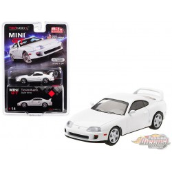 Toyota Supra ( JZA80) White -  MINI GT 1:64 - Mijo Exclusive - MGT00014 -  Passion Diecast
