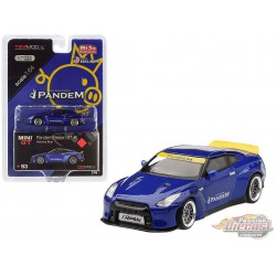 Nissan GT-R R35 Pandem with  Duck Tail  Velocity Blue -  MINI GT 1:64 - MGT00093 - Passion Diecast