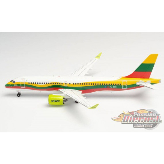 "Air Baltic Airbus A220-300 (Bombardier CS300) ""Lithuania"" - Herpa 1/200 HE570770 Passion Diecast"