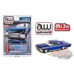 1970 Chevy Impala SS Metallic Blue - Lowriders - Auto World 1/64 MiJo Exclusives - CP7666 - Passion Diecast