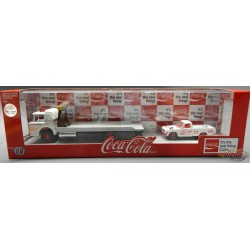 1957 Mack Model N Rollback Truck with 1978 Datsun 620 Pickup Coca-Cola -  CHASE CAR M2 1/64  TW02 CGR