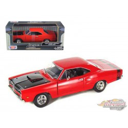 Dodge Coronet Super Bee 1969 Red Motormax 1/24 - 73315 RD - Passion Diecast