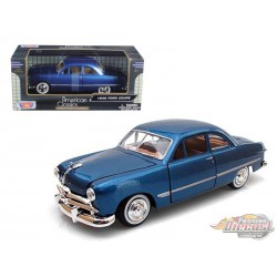 1949 Ford Coupe Blue  -  Motormax 1/24 - 73213 BL - Passion Diecast