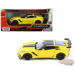 2019 Chevrolet Corvette ZR1 Yellow - Motormax 1/24 - 79356 YL  - Passion Diecast