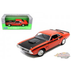 1970 Dodge  Challenger T/A Orange - Welly 1/24 - 24029 OR  - Passion Diecast